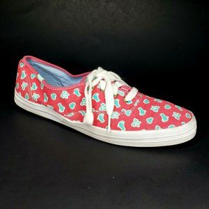 Keds Taylor Swift Canvas Sneakers Hearts Bows Cat
